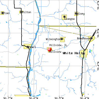Hillview, IL map