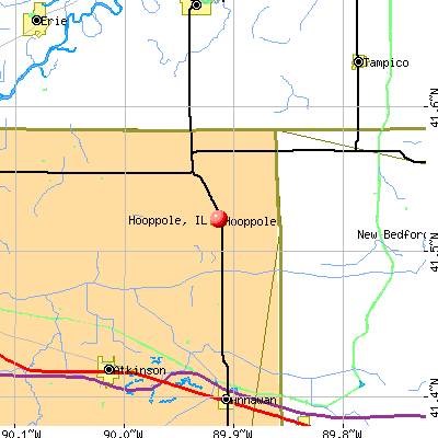 Hooppole, IL map