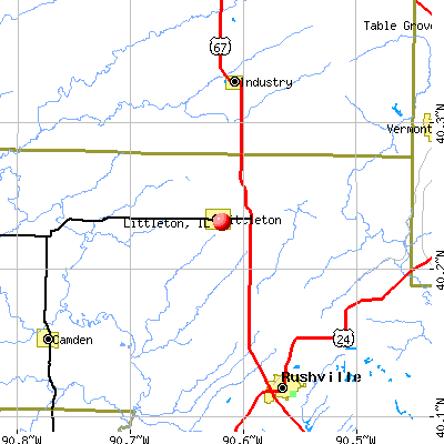 Littleton, IL map