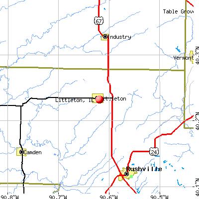 Littleton, IL map