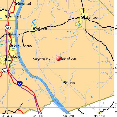 Maeystown, IL map