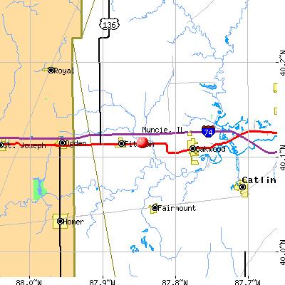 Muncie, IL map