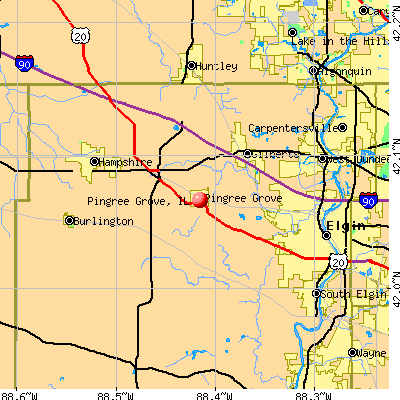 Pingree Grove, IL map