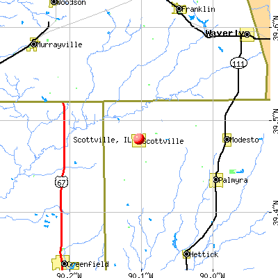 Scottville, IL map
