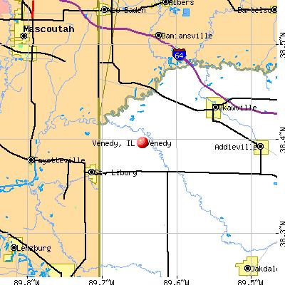 Venedy, IL map