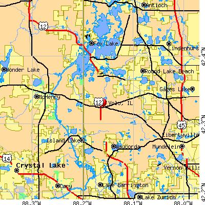 Volo, IL map