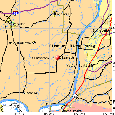 Elizabeth, IN map