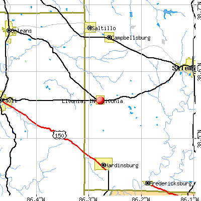 Livonia, IN map