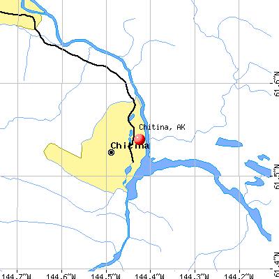 Chitina, AK map