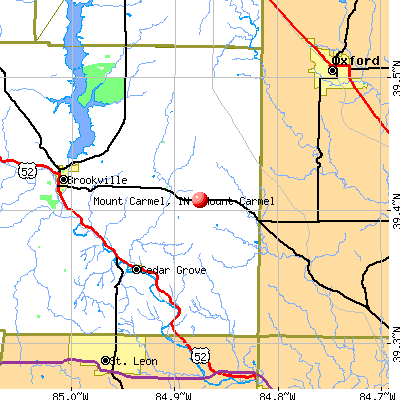 Mount Carmel, IN map