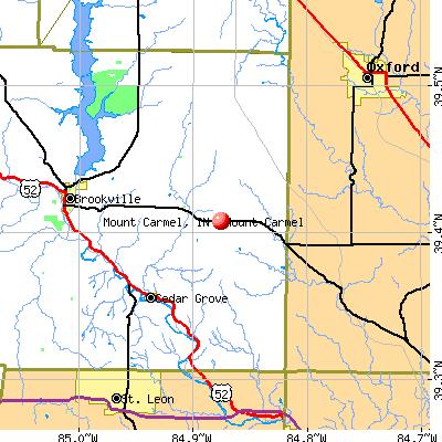 Mount Carmel, IN map
