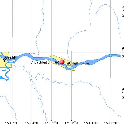 Chuathbaluk, AK map