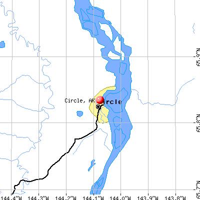 Circle, AK map