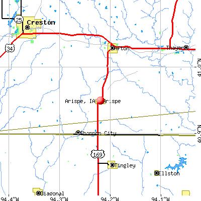 Arispe, IA map