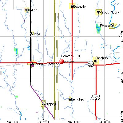 Beaver, IA map