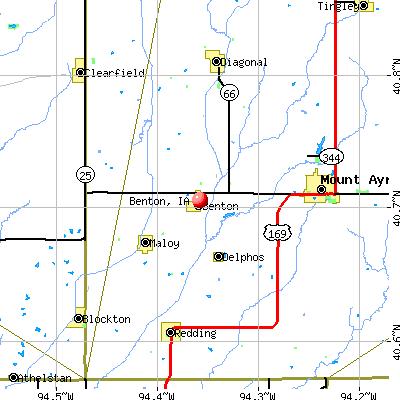 Benton, IA map
