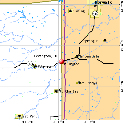 Bevington, IA map