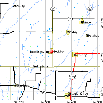 Blockton, IA map