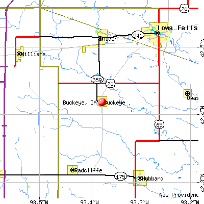 Buckeye, IA map