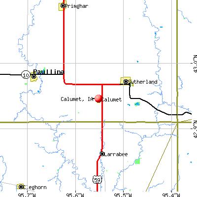 Calumet, IA map