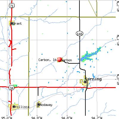 Carbon, IA map