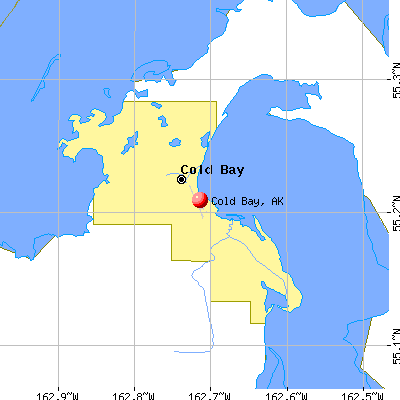 Cold Bay, AK mapcold bay city