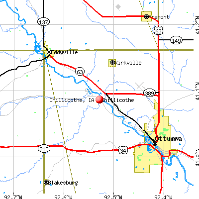 Chillicothe, IA map
