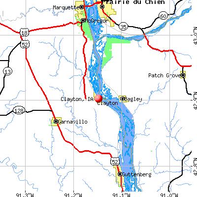 Clayton, IA map