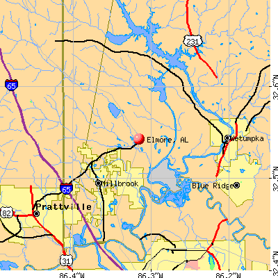 Elmore, AL map