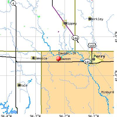 Dawson, IA map