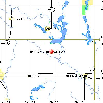 Dolliver, IA map