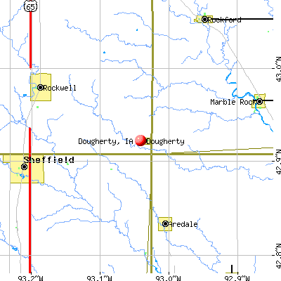 Dougherty, IA map