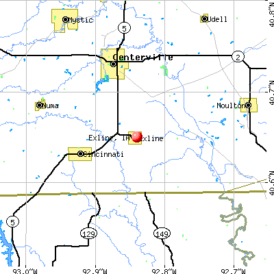 Exline, IA map