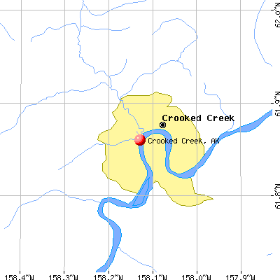 Crooked Creek, AK map