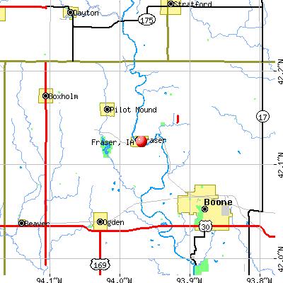 Fraser, IA map