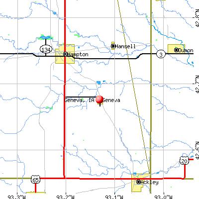 Geneva, IA map