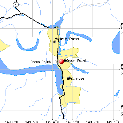 Crown Point, AK map