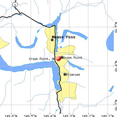 Crown Point, AK map