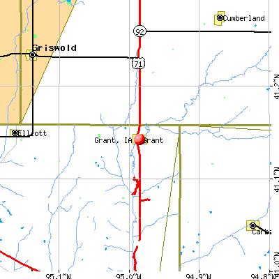 Grant, IA map
