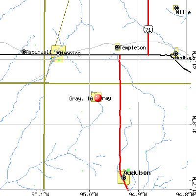 Gray, IA map