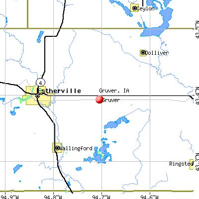 Gruver, IA map