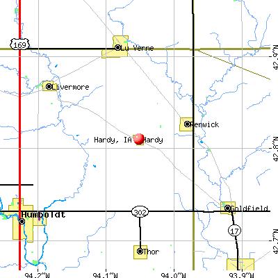 Hardy, IA map