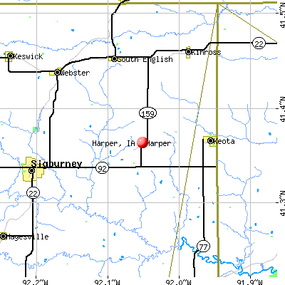 Harper, IA map