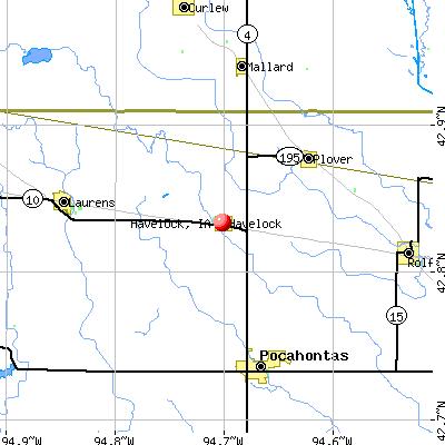 Havelock, IA map