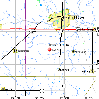 Haverhill, IA map