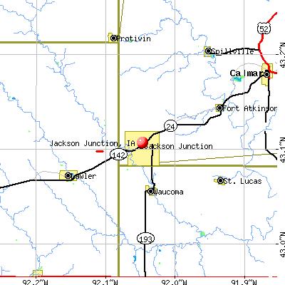 Jackson Junction, IA map