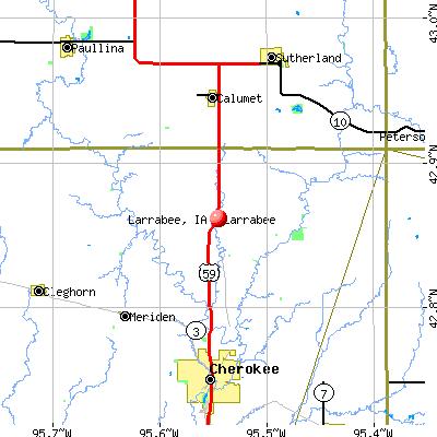Larrabee, IA map
