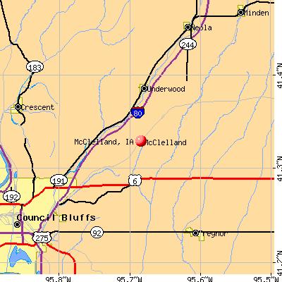 McClelland, IA map