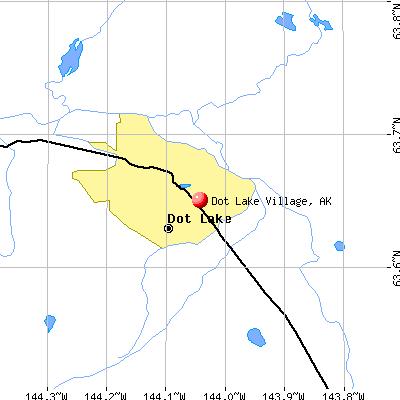 Dot Lake Village, AK map