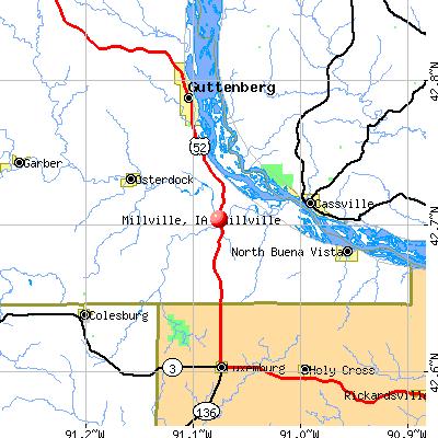 Millville, IA map